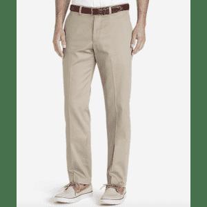 Eddie Bauer Men's Dress Performance Flat-Front Slim Khakis for $24