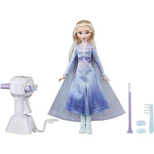 Disney Frozen II Sister Styles Elsa Fashion Doll for $24