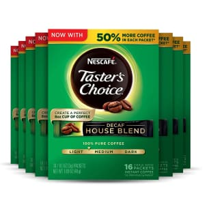 Nescafe Taster's Choice Instant Coffee 16-Count 8-Pack for $19 w/ Sub & Save