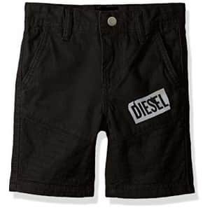 Diesel Boys' Little Casual Short, Mojito Black, 7 for $28