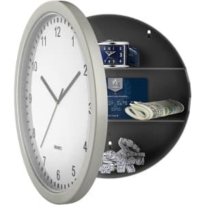 """Stalwart Hidden Compartment 10"""" Wall Clock for $14"""