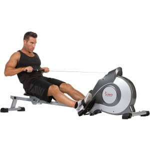 Sunny Health & Fitness Magnetic Rowing Machine Rower w/ LCD Monitor for $199