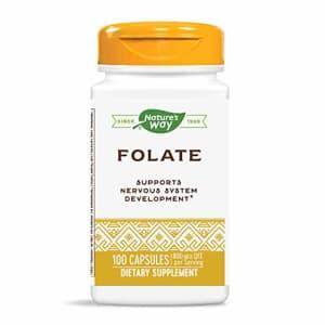 Nature's Way Folic Acid, 800mcg, 100 Capsules for $12
