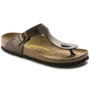 Birkenstock Women's Gizeh Birko-Flor Thong Sandals for $75