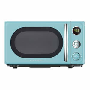Galanz GLCMKA07BER-07 0.7 Retro cu. Ft. 700-Watt Countertop Microwave, Bebop Blue for $49