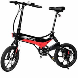 Swagtron Swagcycle EB-7 Elite Folding Electric Bike, 16-Inch Wheels, Swappable Battery with Keylock for $988
