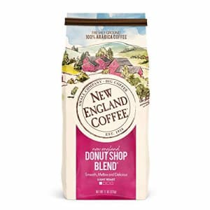 New England Coffee New England Donut Shop Blend, Light Roast Ground Coffee, 11 Ounce (1 Count) Bag for $5