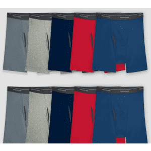 Fruit of the Loom Men's CoolZone Fly Dual Defense Boxer Briefs 10-Pack for $13 w/ Target Circle