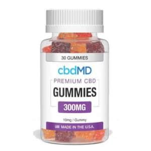 cbdMD Premium CBD Gummies 300mg 30-Count Bottle for $28