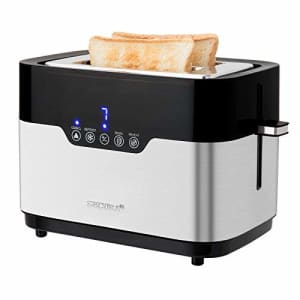 Secura Toaster 2 Slice Bagel Bread Stainless Steel Extra Wide Slots with Defrost Reheat Auto Shut for $34