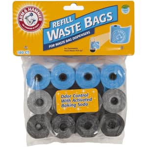 Petmate Arm & Hammer 180-Count Disposable Pet Waste Bags for $9