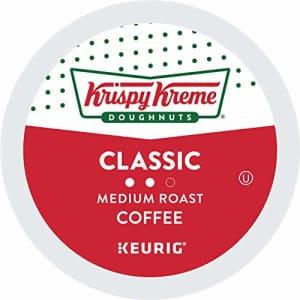 Krispy Kreme Classic, Single-Serve Keurig K-Cup Pods, Medium Roast Coffee, 12 Count (Pack of 6) for $39