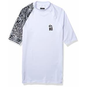 Quiksilver Men's MA Kai SS Short Sleeve Rashguard SURF Shirt, White, X-Small for $33