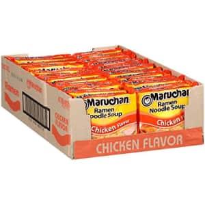 Maruchan Ramen Chicken, 3.0 Oz, Pack of 24 for $6