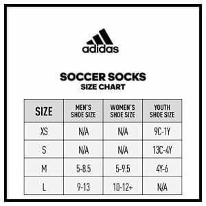 adidas Unisex Metro IV OTC Soccer Socks (1-Pair) for $8