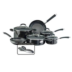 Farberware Millennium Nonstick Cookware Pots and Pans Set, 12 Piece, Black for $100