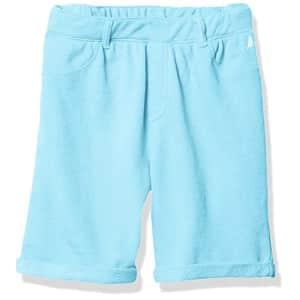 Nautica Girls' Solid Woven Short, Aqua Wave, 4T for $11