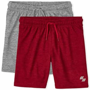 The Children's Place Boys Marled Performance Basketball Shorts 2-Pack, Multi CLR, X-Small for $17