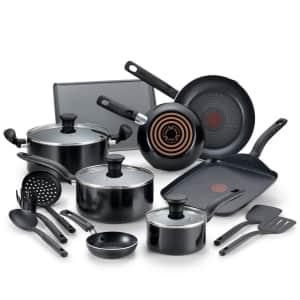 T-Fal Culinaire 16-Piece Nonstick Aluminum Cookware Set for $60
