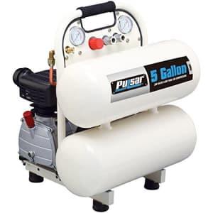 Pulsar PCE6050T Twin Tank Electrical Air Compressor, 5-Gallon for $184