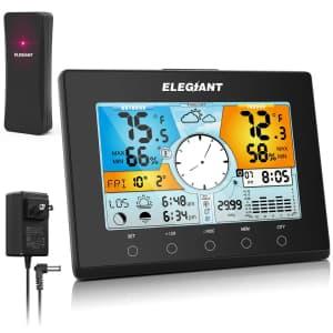 Elegiant Digital Indoor Outdoor Weather Station for $20