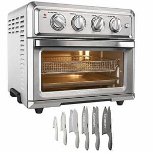 Cuisinart TOA-60 Convection Toaster Oven Air Fryer with Light, Silver Bundle with Exclusive for $230