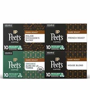 Peet's Peets Coffee Dark Roast Variety Pack K-Cup Coffee Pods for Keurig Brewers, Variety Pack, 40 Pods for $38