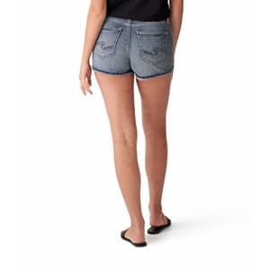 Silver Jeans Co. Women's Avery High Rise Shorts, Indigo, 33W for $43