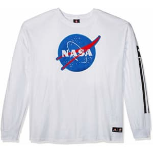 Southpole Men's Big and Tall NASA Collection Fashion Tee Shirt (Short & Long Sleeve), White Long, for $17