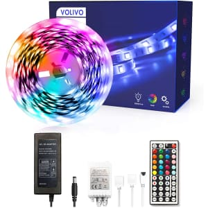 Volivo 16.4-Ft. LED Strip Lights with Remote for $6