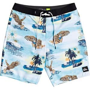 Quiksilver Men's Everyday America 4th of July Boardshort Swim Trunk, Pacific Blue, 38 for $60