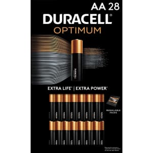 Duracell Optimum AA Batteries 28-Pack for $17 via Sub & Save
