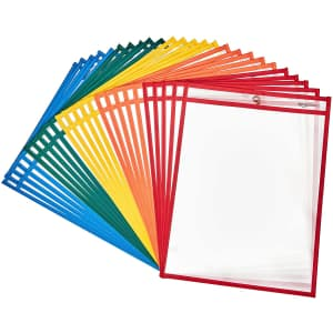 Amazon Basics Heavy Duty Dry Erase Paper Holder Pockets 25-Pack for $13 via Sub & Save