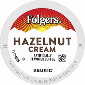 Folgers Hazelnut Cream Flavored Coffee, 72 K Cups for Keurig Coffee Makers for $39
