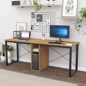 "Sogesfurniture 78"" Dual Desk Double Workstation for $99"