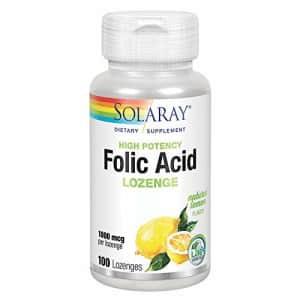 Solaray High Potency Folic Acid Lozenge 1000 mcg | Healthy Prenatal Support & More | Natural Lemon for $8