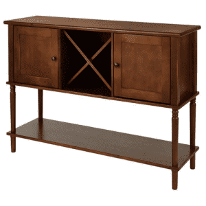 StyleWell Wood Buffet Table w/ Wine Storage for $150