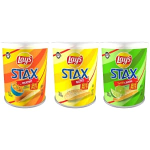 Frito Lay Lay's Stax Potato Crisps 9-pack for $11.24 in cart w/ Prime