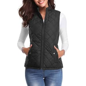 Fuinloth Women's Quilted Vest for $18