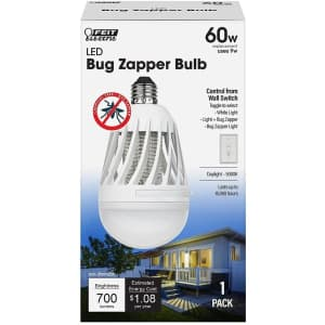 Feit Electric 60W LED Bug Zapper Bulb for $5