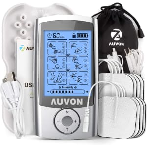 Auvon Rechargeable TENS Unit Muscle Stimulator for $27
