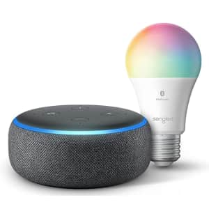 3rd-Gen Amazon Echo Dot w/ Sengled Color Smart Bulb for $25