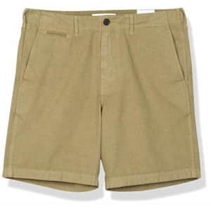 Billy Reid Men's Clyde Chino Shorts, Olive Pima Cotton, 38 for $84