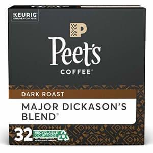 Peet's Peets Coffee Major Dickason's Blend K-Cup Coffee Pods for Keurig Brewers, Dark Roast, 32 Pods for $27