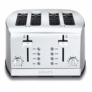 KRUPS KH734D Breakfast Set 4-Slot Toaster with Brushed and Chrome Stainless Steel Housing, 4-Slices for $77