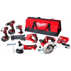 Milwaukee 2696-26 M18 Cordless LITHIUM-ION 6-Tool Combo Kit for $604