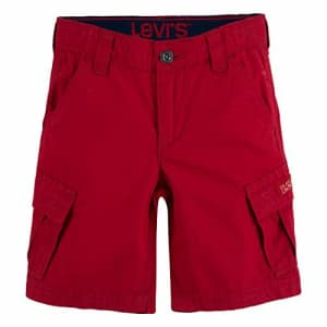 Levi's Boys' Cargo Shorts, Chili Pepper Red, 3T for $21