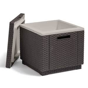 KETER Ice Cube Beer and Wine Cooler Table Perfect for Your Patio, Picnic, and Beach Accessories, for $79