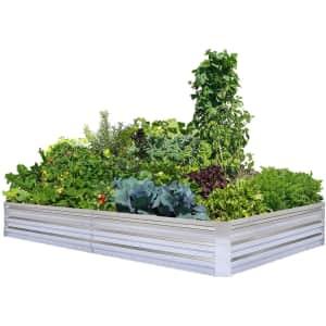 Foyuee Galvanized Raised Garden Bed for $80