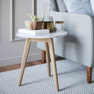 Nathan James Amalia Solid Wood Frame Accent Table for $38